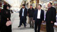 Başkan Yazgı, eşi Hasibe hanım ve meclis üyeleri kapalı çarşıda