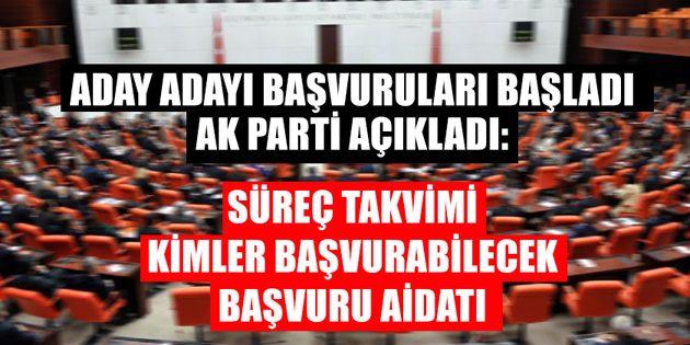 AK Parti milletvekili aday adaylığı şartları başvuru formu