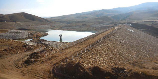 Altınkaya Göleti'nde su tutulmaya başlandı