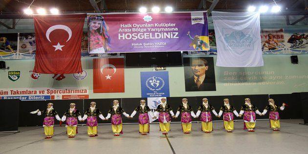 Kulüpler arası halk oyunları yarışması Aksaray'da yapıldı