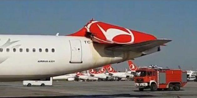 THY uçağının kuyruğuna Güney Kore uçağı çarptı!