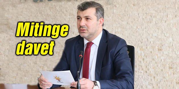 Başkan Altınsoy'dan mitinge davet