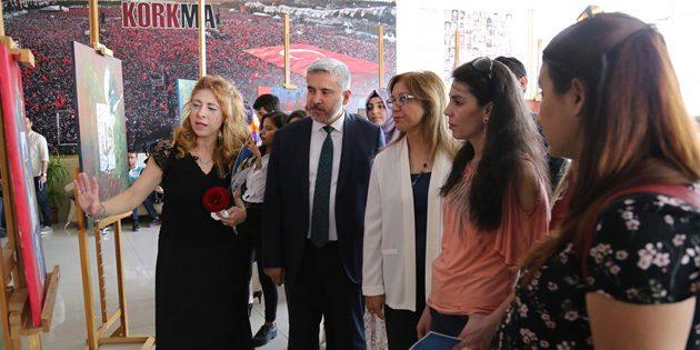 'Mevlana ve Sevgi' sergisi ASÜ'de beğeniye sunuldu