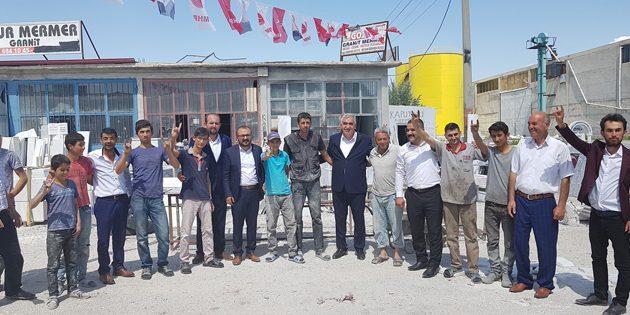 Eskilliler MHP adaylarını bağrına bastı