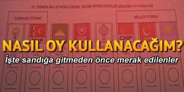 24 Haziran seçimlerinde nasıl oy kullanacağım?