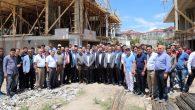 Ak Parti heyeti inşaat işçileriyle buluştu