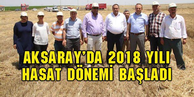 Aksaray'da 2018 yılı arpa hasadı başladı