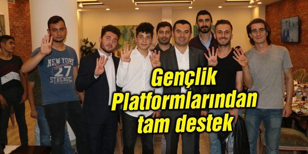 Gençlik Platformlarından Muhammed Aktaş'a tam destek
