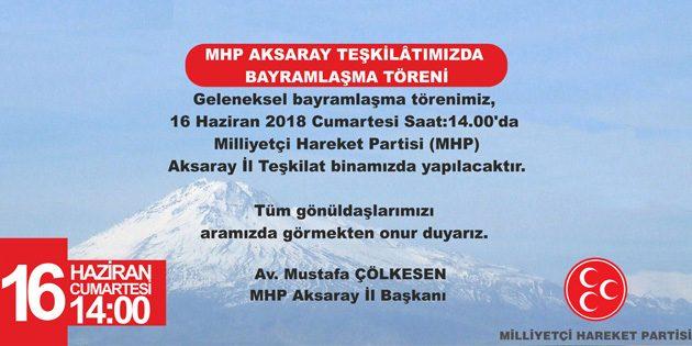 MHP'de bayramlaşma töreni Cumartesi günü
