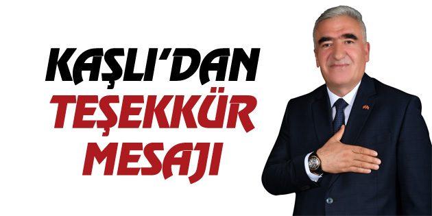 MHP Milletvekili Ramazan Kaşlı'dan teşekkür mesajı