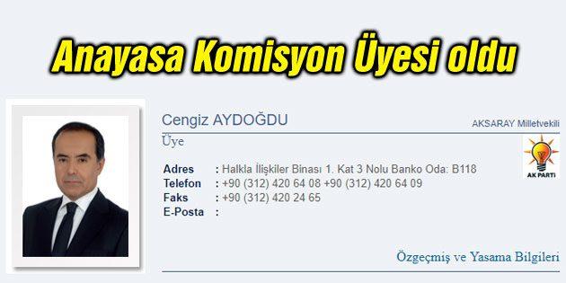 Cengiz Aydoğdu Anayasa Komisyon üyesi oldu