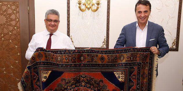 Fikret Orman Vali Aykut Pekmez'i ziyaret etti