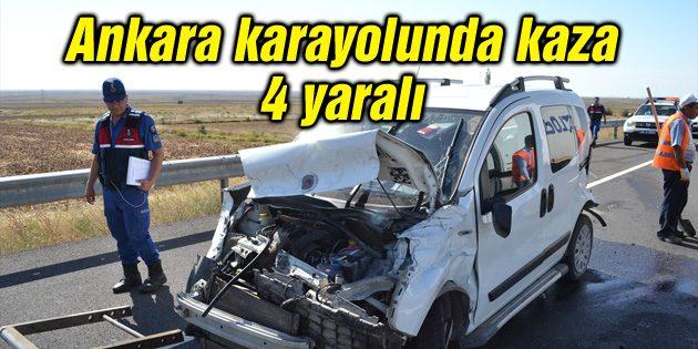 Ankara karayolunda kaza: 4 yaralı