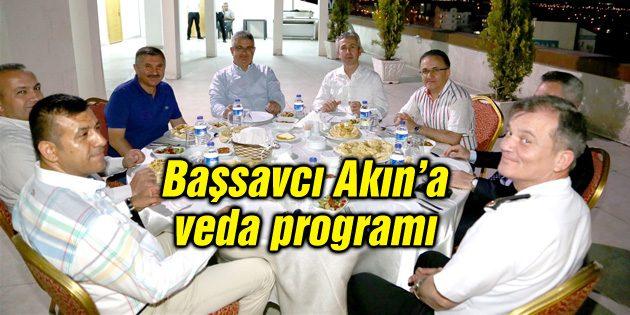 Başsavcı Ramazan Akın için veda yemeği verildi