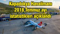Kapadokya Havalimanı 2018 Temmuz ayı istatistikleri açıklandı
