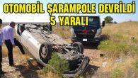 Otomobil şarampole devrildi: 5 yaralı