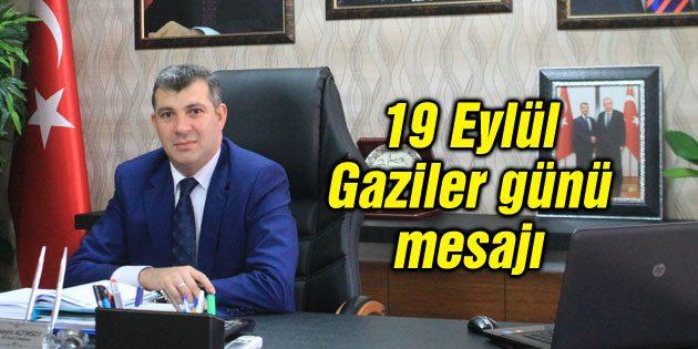 Altınsoy'un 19 Eylül Gaziler günü mesajı