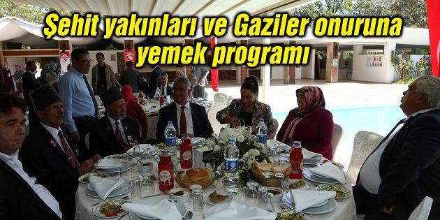 Şehit yakınları ve Gaziler onuruna yemek programı