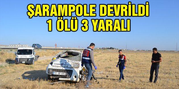 Hafif ticari araç şarampole devrildi: 1 ölü, 3 yaralı