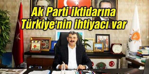 Altınsoy: Ak Parti iktidarına Türkiye'nin ihtiyacı var