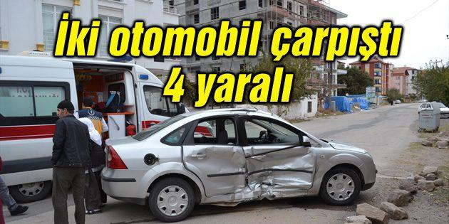Aksaray'da iki otomobil çarpıştı: 4 yaralı