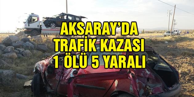 Hafif ticari araçla otomobil çarpıştı: 1 ölü, 5 yaralı