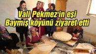 Vali Pekmez'in eşi Baymış köyünü ziyaret etti