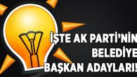İşte AK Parti'nin belediye başkan adayları!