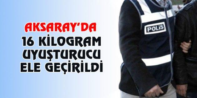 Aksaray'da 16 kilogram eroin ele geçirildi
