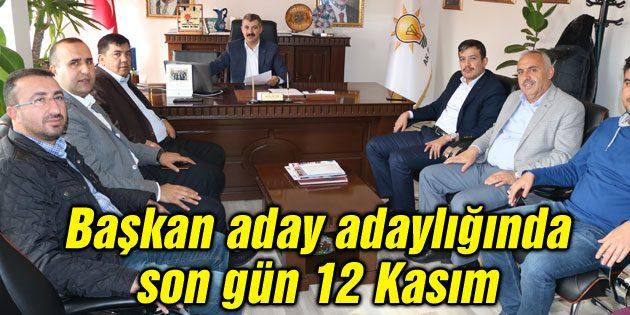 Belediye başkan aday adaylığında son gün 12 Kasım