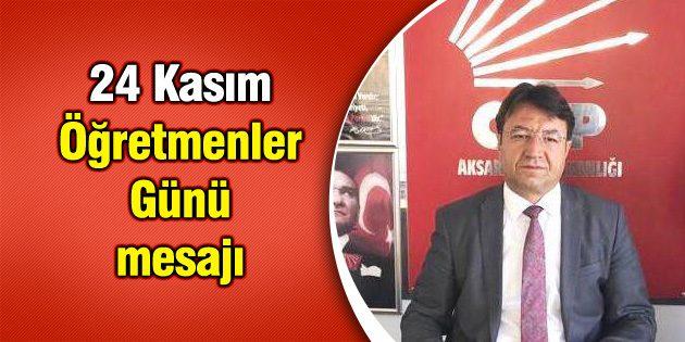CHP İl Başkanı Koçak'ın 24 Kasım mesajı