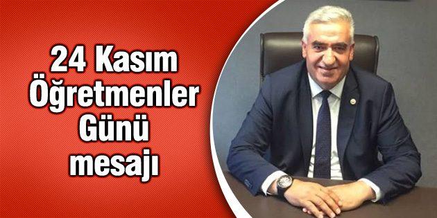 Milletvekili Kaşlı'nın 24 Kasım Öğretmenler Günü mesajı