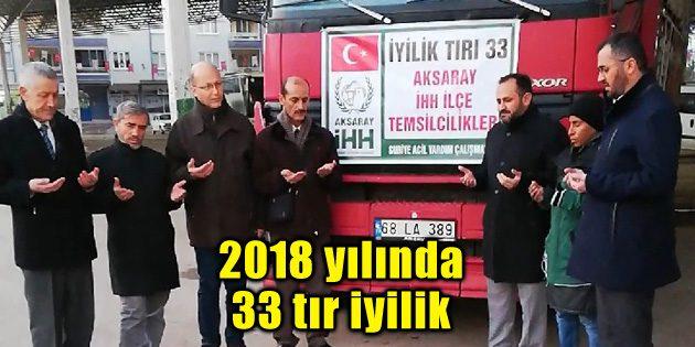 2018 yılında 33 tır iyilik