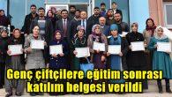 Genç çiftçilere eğitim sonrası katılım belgesi verildi