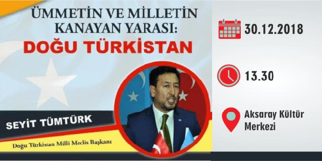 Türkmen Meclis Başkanı Aksaray'da konferans verecek