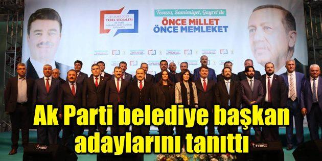 Ak Parti belediye başkan adaylarını tanıttı