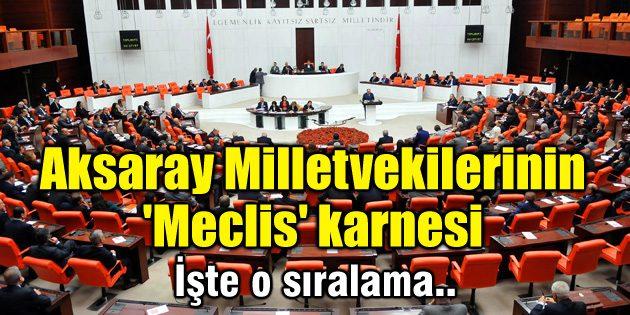 Aksaray Milletvekilerinin 'Meclis' karnesi