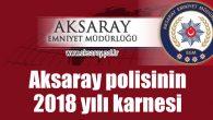 Aksaray polisinin 2018 karnesi