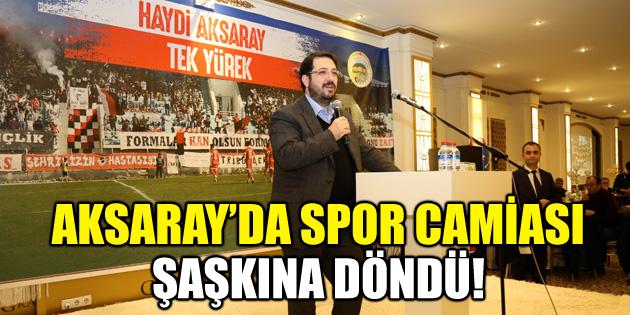 Yazgı: Aksarayspor benim değil, tüm şehrin takımıdır