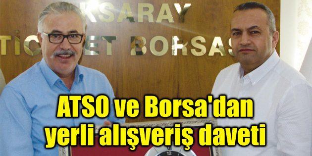 ATSO ve Borsa'dan vatandaşa yerli alışveriş daveti