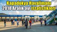 Kapadokya Havalimanı 2018 Aralık ayı istatistikleri