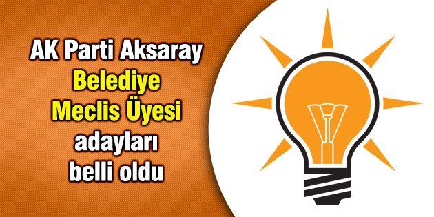 Ak Parti Aksaray Belediye Meclis Üyesi adayları