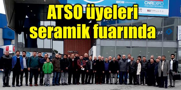 ATSO üyeleri seramik fuarında
