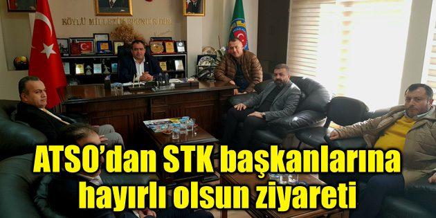 ATSO heyetinden STK başkanlarına hayırlı olsun ziyareti