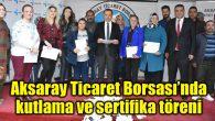 Borsa'da kutlama ve sertifika töreni