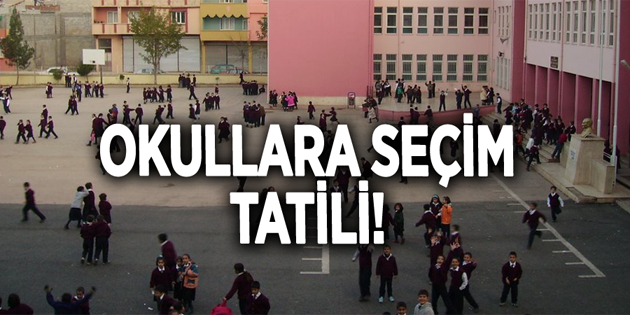 1 Nisan Pazartesi günü okullar tatil edildi