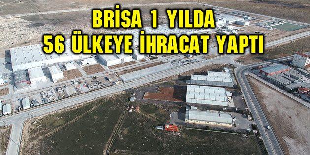 Brisa 1 yılda 56 ülkeye ihracat yaptı
