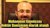 Muhammet Gümüşsoy Rektör Danışmanı olarak atandı