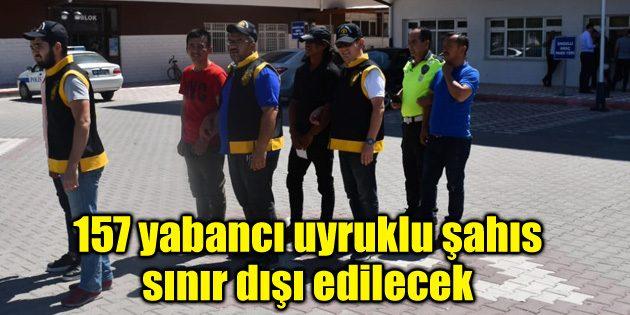Aksaray'a kaçak yollarla gelen 157 yabancı uyruklu şahıs sınır dışı edilecek