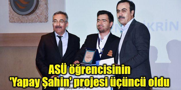 ASÜ öğrencisinin 'Yapay Şahin' projesi üçüncü oldu